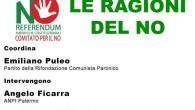 Continua la campagna per il NO al Referendum Costituzionale da parte della Federazione di Palermo di Rifondazione Comunista, il prossimo sabato 12 novembre alle 17 a Partinico presso il Palazzo […]